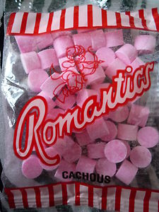 So pink cachous sweets are actually branded as Romantics...