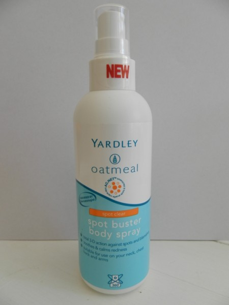 Yardley Oatmeal Spot Buster Body Spray