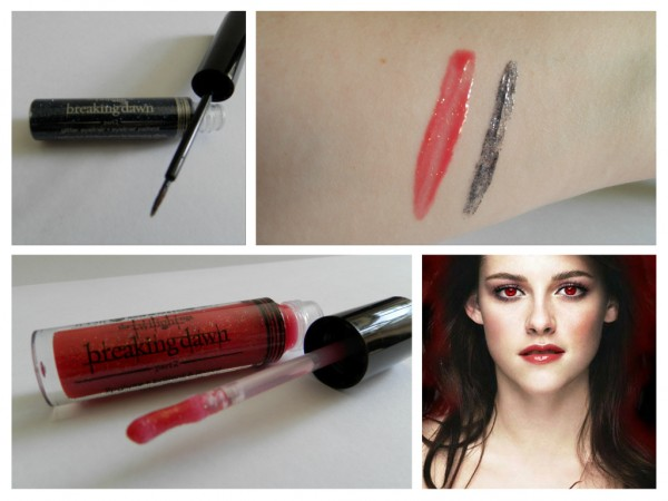 The Breaking Dawn Part 2 lip gloss and liner swatches