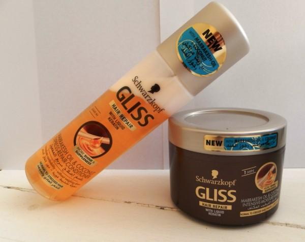 Gliss Marrakesh oil & Coconut Intensive Repair Conditioner and Moisture Mask