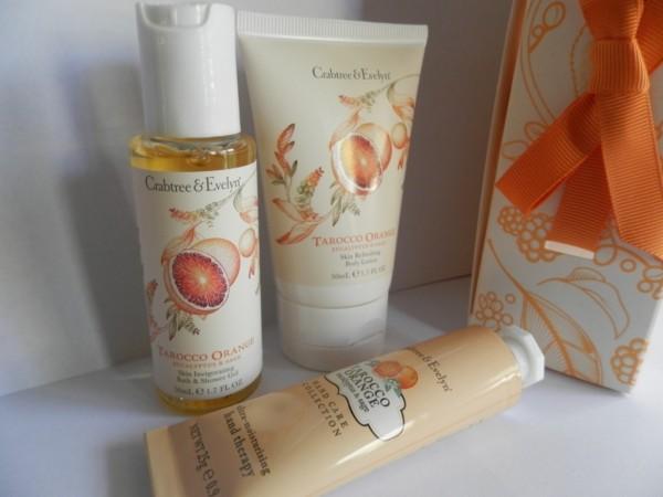 Crabtree & Evelyn Tarocco Orange Little Luxuries set