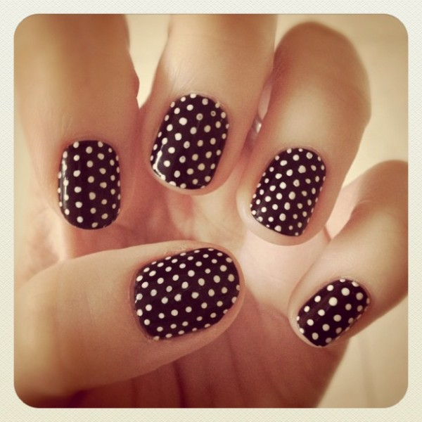 Polka Dot Nails - Not Another Poppie