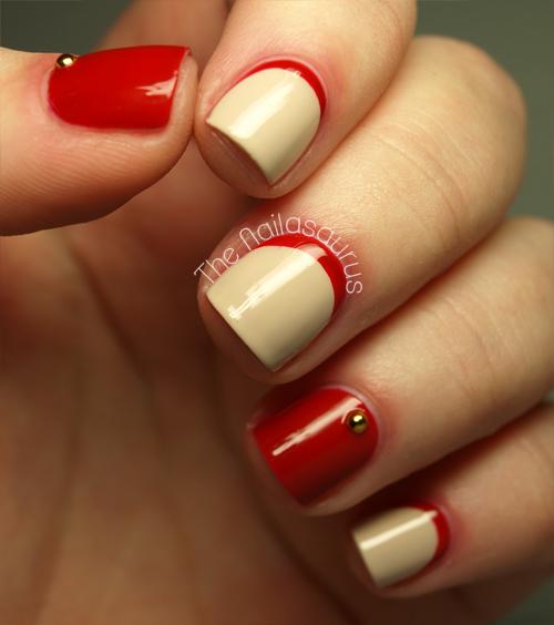 Nude red ruffian nails from The Nailasaurus