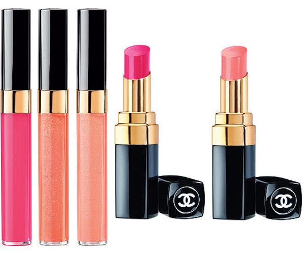 L'ete Papillon de Chanel Summer 2013 lip colours: Levres Scintillantes and Rouge Coco Shine