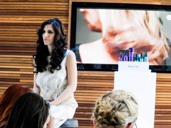 One of the models, her hair was obviously done with the aid of the Kerastase Couture Styling products