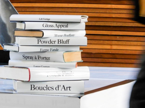 This was such a cool idea - book covers with the names of the Kerastase Couture Styling products