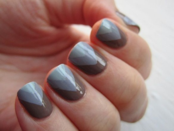 Trendspotting fishtail chevron nails not another poppie gray chevron nails solutioingenieria Gallery
