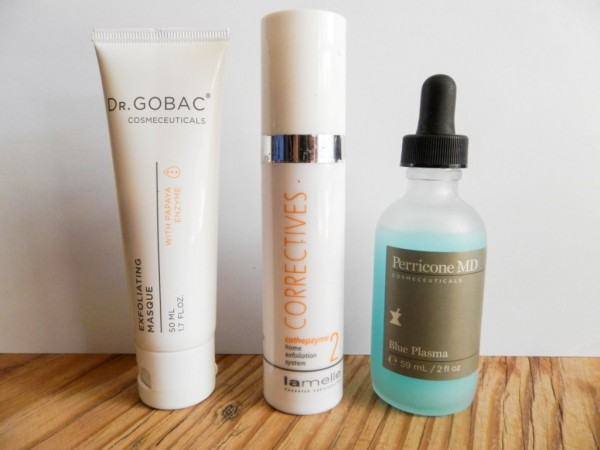 Here are some enzymatic exfoliators I use, Gr Gobac exfoliating mask is on the left