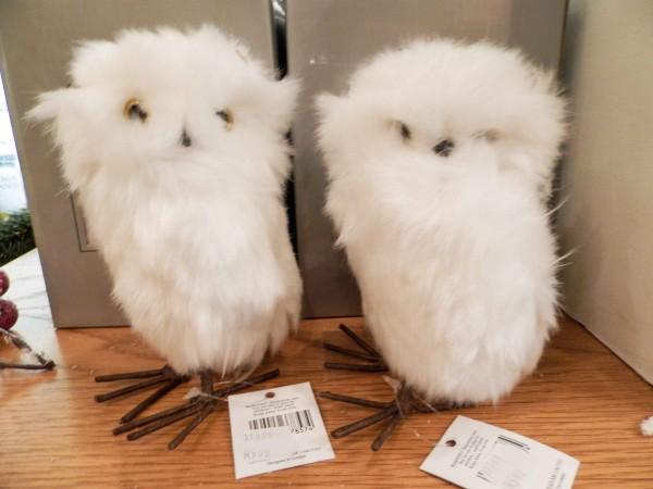Gisela Graham Owl decorations