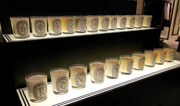 Dyptique candles at Luminance