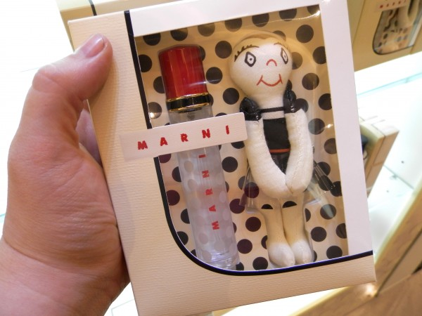 Marni EDP - the 10ml comes with a little ragdoll (R1195) and the full sized bottle is covered with dots (R995 for 65ml).