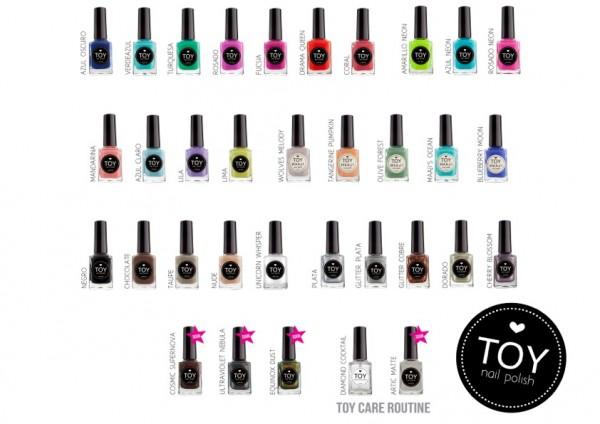 The first TOY nail polish shades available in SA