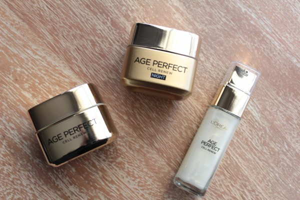 L'Oreal Age Perfect Cell Renew day cream, night cream and serum.