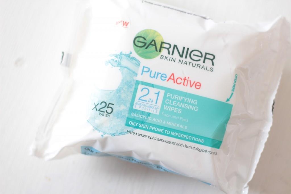 Garnier Pure Active wipes.