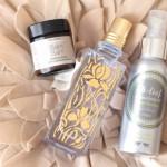 FLTR: Balm Balm Frankincense Cleansing Balm, L'Occitane Iris Bleu & Iris Blanc, Oh Lief Natural Body Oil.