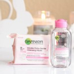 garnier micellar wipes and water