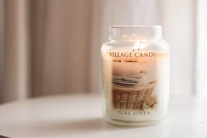 pure linen village candle