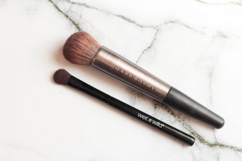 urban decay f105 brush, wet n wild eyeshadow brush