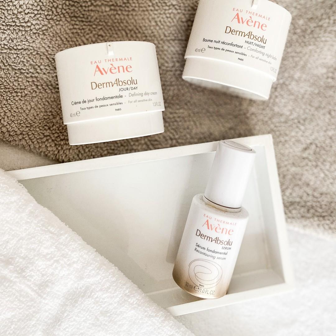 Avene Dermabsolu serum, day cream and night balm